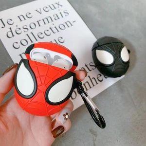 NEW Cartoon Spider Airpods Silicone Case W/Hook